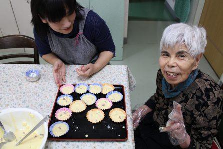 八幡西区山寺町 グループホームいきいき桜苑🌸 蒸しパン作り③